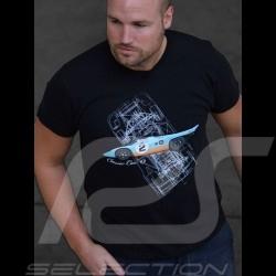 T-Shirt Gulf Porsche 917 noir black Schwarz homme men Herren