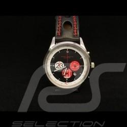 Montre Chrono Chronograph watch Uhr Porsche 917 K n ° 23 Salzburg boitier chrome chrom / fond noir black schwarz
