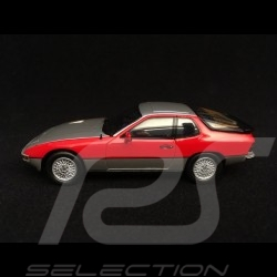 Porsche 924 Turbo 1979 bi-ton gris argent / rouge indien two-tone silver grey  / indian red Zweifarbig silbergrau / indisch rot