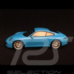 Porsche 911 Carrera S type 991 Riviera blue 1/43 Minichamps 940060220