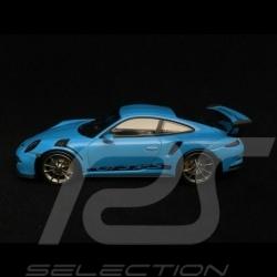 Porsche 911 GT3 RS type 991 2014 riviera blue 1/43 Minichamps 410063222