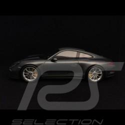 Porsche 911 R type 991 2016 Westminster grey / grey stripes 1/18 Spark WAX02100024