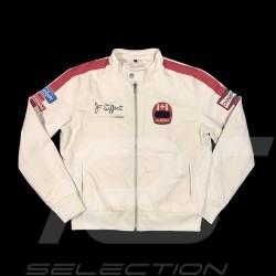 Jacket Jo Siffert Tribute beige / bordeaux - men