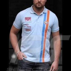 Polo-shirt Gulf Steve McQueen Le Mans Gulfblau - Herren