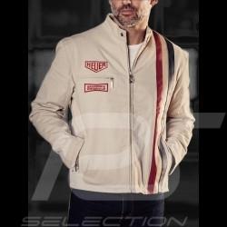 Jacket Gulf Steve Mc Queen Le Mans cotton beige - men