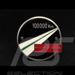 Badge de grille Grillbadge Porsche 100 000 km métal metal metall 4 couleurs colours Farben émail à froid cold enamel kaltemailli