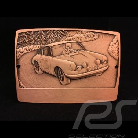 GrillBadge Porsche 911 n° 6 graviert Metall Farbe Bronze