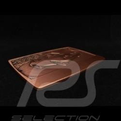 Badge de grille GrillBadge Porsche 911 n° 6 métal gravé engraved metal graviert Metall couleur bronze