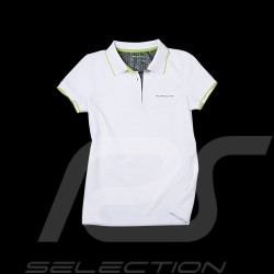 Polo Porsche Golf Collection blanc vert Porsche Design WAP541 - femme women damen