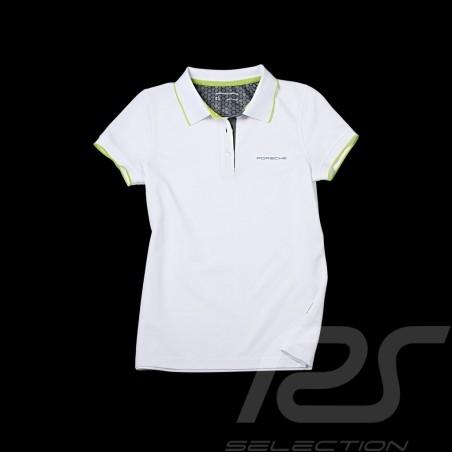 Polo Porsche Golf Collection blanc vert Porsche Design WAP541 - femme women damen