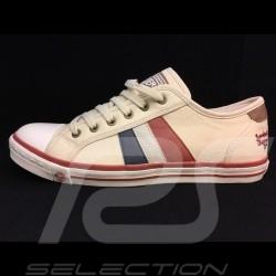 Heuer Sneaker / Basket Schuhe style Converse Creme - Herren