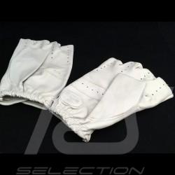 Gants de conduite sans doigts mitaines cuir Racing Driving Gloves fingerless mittens leather Fahren Handschuhe fingerless Leder