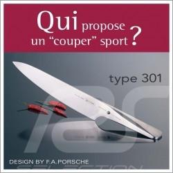 Couteau Knife Messer Porsche Design Type 301 Design by F.A. Porsche à découper 19.3 cm Chroma P05