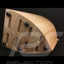 Holzblock für 8 Messer Porsche Design Typ 301 Design by F.A. Porsche Chroma P12