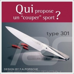 Couteau Knife Messer Porsche Design Type 301 HM Design by F.A. Porsche Hakata (Santoku pointu) 19 cm Chroma P40HM