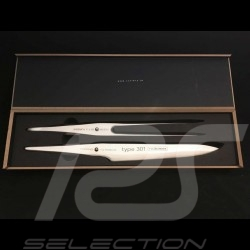 Coffret à découper Porsche Design Type 301 by F.A. Porsche couteau et fourchette Chroma P517 Carving and fork Set Tranchierset