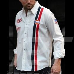 Chemise Gulf Steve McQueen Le Mans blanche - homme MEN HERREN