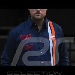 Shirt Gulf Steve McQueen Le Mans navy blue - men