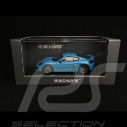 Porsche Cayman GT4 981 2015 riviera blue 1/43 Minichamps CA04316077