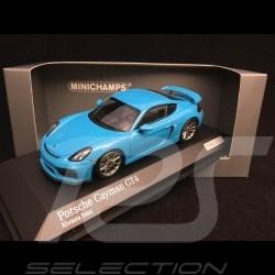 Porsche Cayman GT4 981 2015 riviera blau 1/43 Minichamps CA04316077