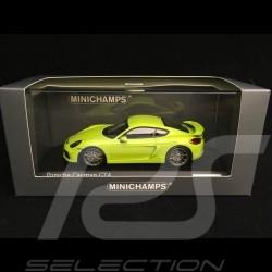 Porsche Cayman GT4 981 2015 vert lumière light green lichtgrün 1/43 Minichamps CA04316075
