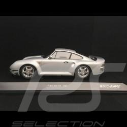 Porsche 959 1987 gris argent 1/18 Minichamps 155066201