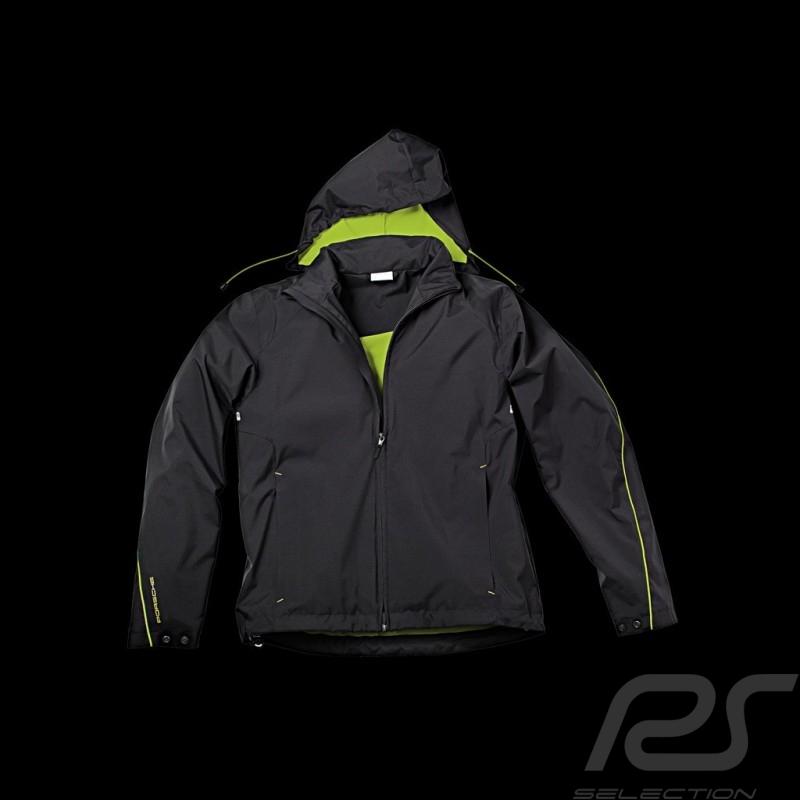 Veste jacket Jacke Porsche coupe-vent windbreaker Sport Collection noir / Vert acide Porsche Design WAP543 - homme