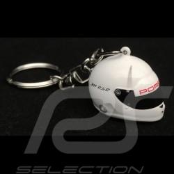 Porsche Schlüsselanhänger Helm 911 RSR / 919 Hybrid N° 1 weiß 1/12 Spark WAX01012017