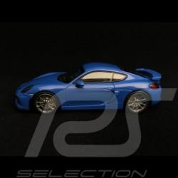 Porsche Cayman GT4 2016 bleu blue blau voodoo 1/43 Minichamps CA04316074