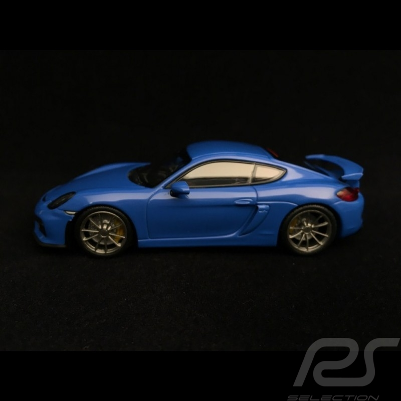 Porsche Cayman GT4 2016 Voodoo blue 1/43 Minichamps CA04316074