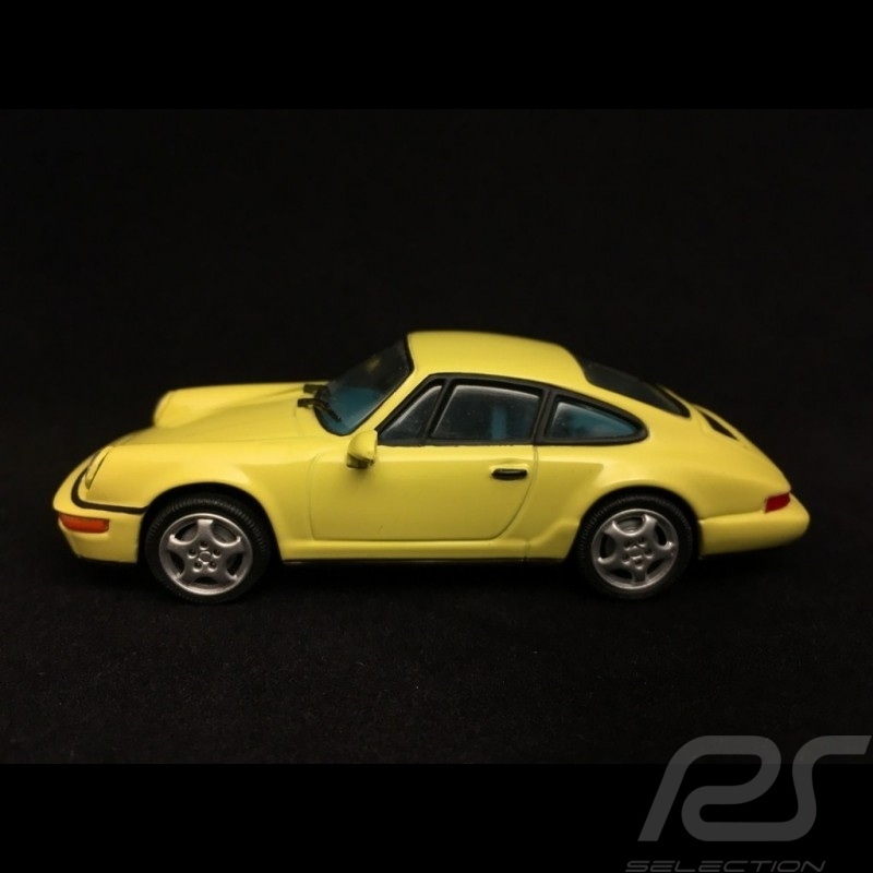 Porsche 911 type 964 Carrera 2 1992 jaune 1/43 Minichamps MIN062120