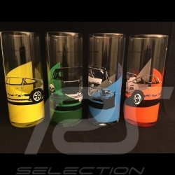Set de 4 verres glasses Gläser Porsche 911 Carrera RS 2.7 Long drink Porsche WAP0509560J