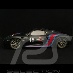 Porsche 918 Spyder Weissach 2015 Martini black 1/18 Autoart 77929