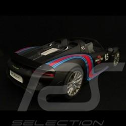 Porsche 918 Spyder Weissach 2015 Martini noire 1/18 Autoart 77929