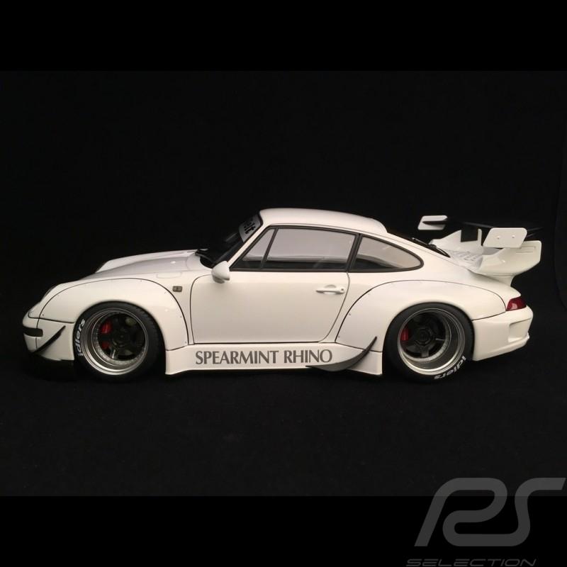Porsche 911 type 993 RWB Spearmint Rhino white 1/18 Autoart 78150