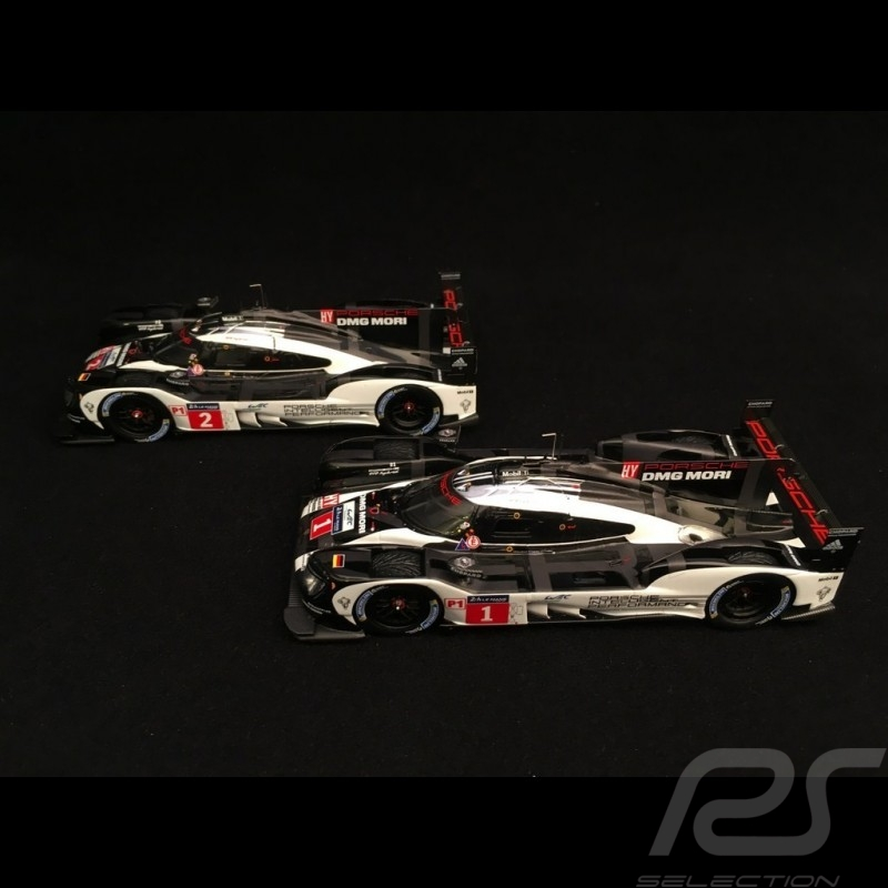 Duo Porsche 919 Hybrid - HY LMP1 Le Mans 2016 1/43 Spark MAP02031616 MAP02087816