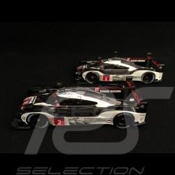 Duo Porsche 919 Hybrid - HY LMP1 Le Mans 2016 finish line 1/43 Spark MAP02087316 MAP02087416