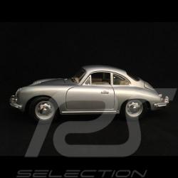 Porsche 356 B Coupé 1961 gris argent silver grey silbergrau 1/18 Burago 12026