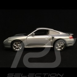 Porsche 911 Turbo type 996 2000 gris argent silver grey silbergrau 1/18 Burago 12030