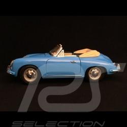 Porsche 356 B Cabriolet 1961 bleu 1/18 Burago 12025