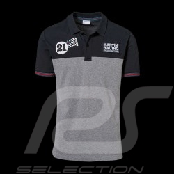 Polo Porsche Martini Racing Collection noir black  schwarz  gris grey grau Porsche WAP922J - homme