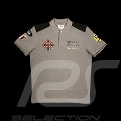 Polo Herrmann n° 55 Carrera Panamericana 1954 gris grey grau Fletcher aviation homme men herren