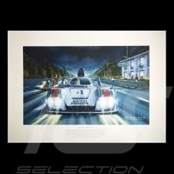 "Porsche Poster 936 n° 4 Martini 24h du Mans 1977 "" Ma plus grande course """