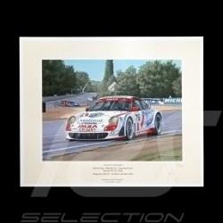 """Porsche Poster 997 GT3 RSR n° 76 LM GT2 24h du Mans 2007 """" Avant le déluge """""""