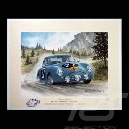 Porsche Poster 356 A 1.6 n° 27 Liège-Rome-Liège 1959