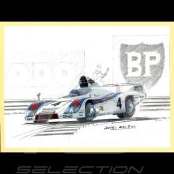 Set of 7 postcards Jacky Ickx 24h du Mans 6 wins Benoît Deliège illustrations