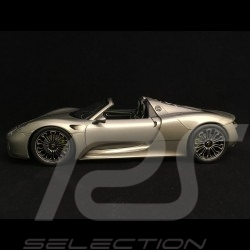 Porsche 918 Spyder 2016 gris métallisé metallic grey grau version ouverte open top open-Top 1/18 Welly 18051 GO
