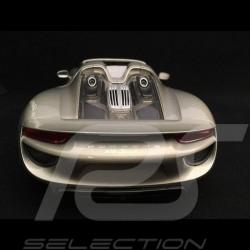 Porsche 918 Spyder 2016 metallic grey open top version 1/18 Welly 18051 GO