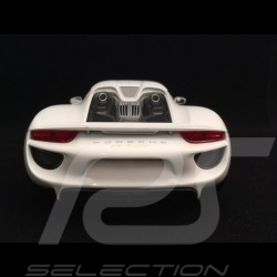 Porsche 918 Spyder 2016 white closed top version 1/18 Welly 18051 WF