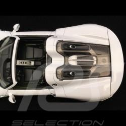 Porsche 918 Spyder 2016 blanche white weiß version ouverte open top 1/18 Welly 18051 WO